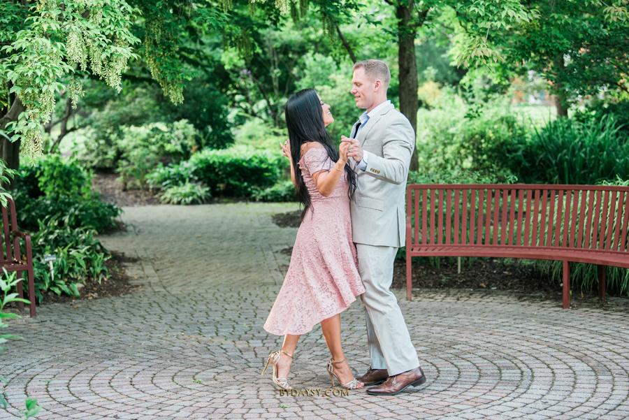 couple dancing at green spring gardens park alexandria VA