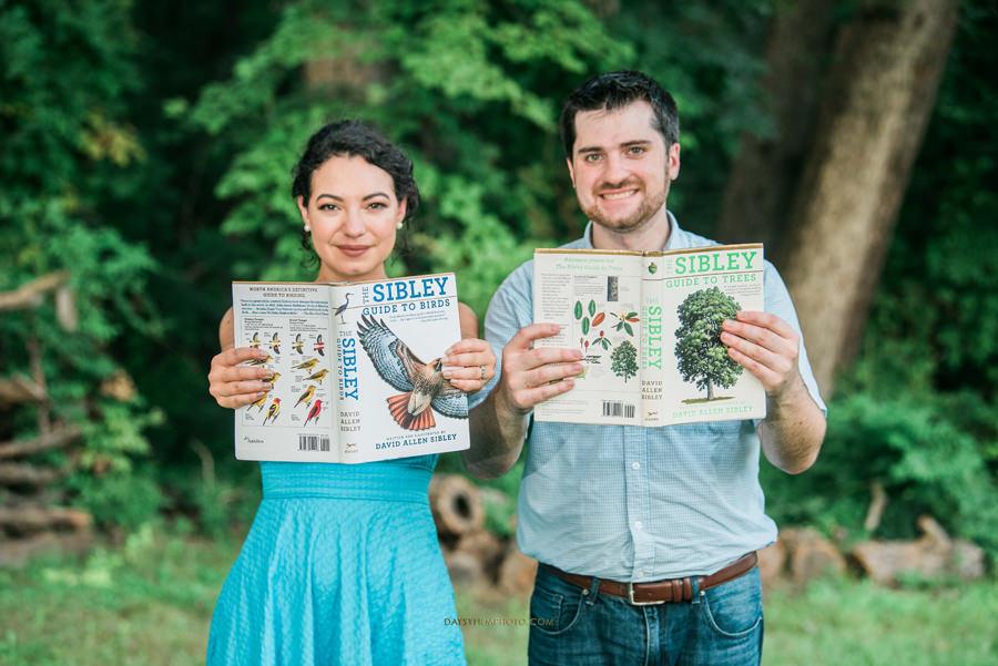 couple holding nature books at Rust Nature Sanctuary