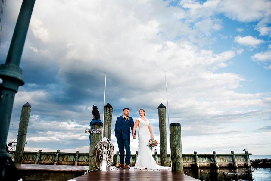 bride and groom at peer bay beach