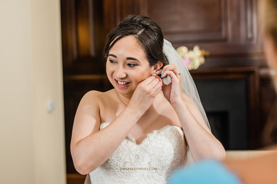 bride getting ready at The Mansion at the Valley Country Club