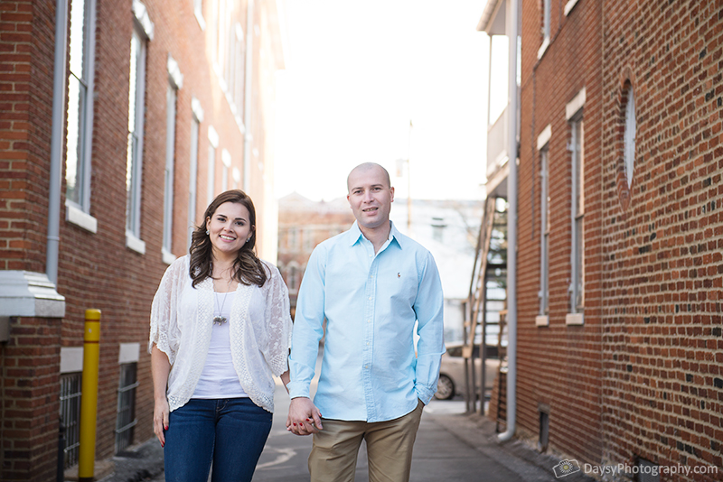 engagement session spring downtown