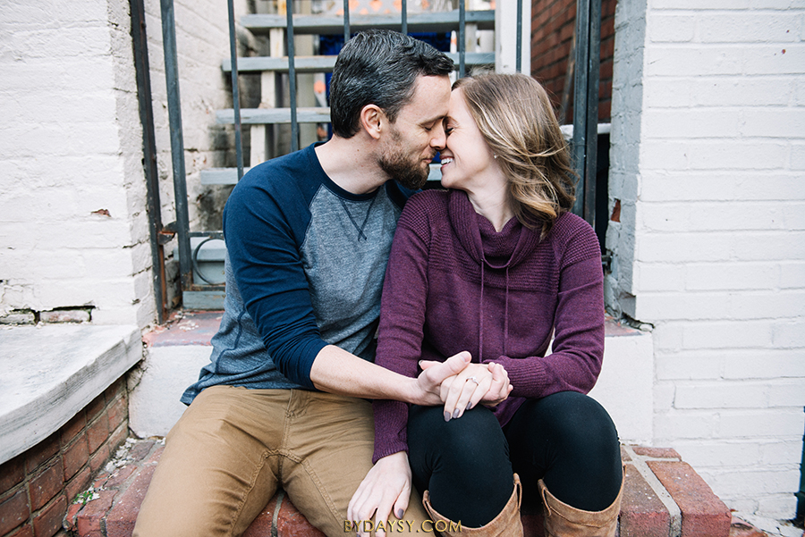 frederick downtown engagement session