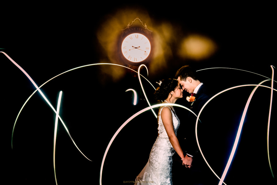 "clock tower wedding photo with artistic light, photography couples found diamond photography by searching ""top 10 wedding photographer near Mclean Virginia 21102"""
