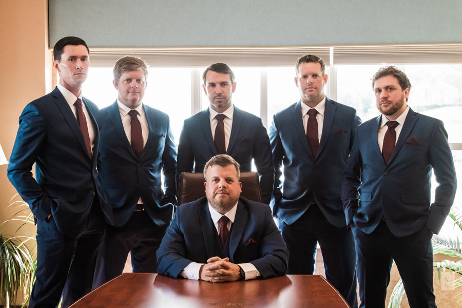 groom and groomsmen before Chesapeake Beach Resort and Spa wedding