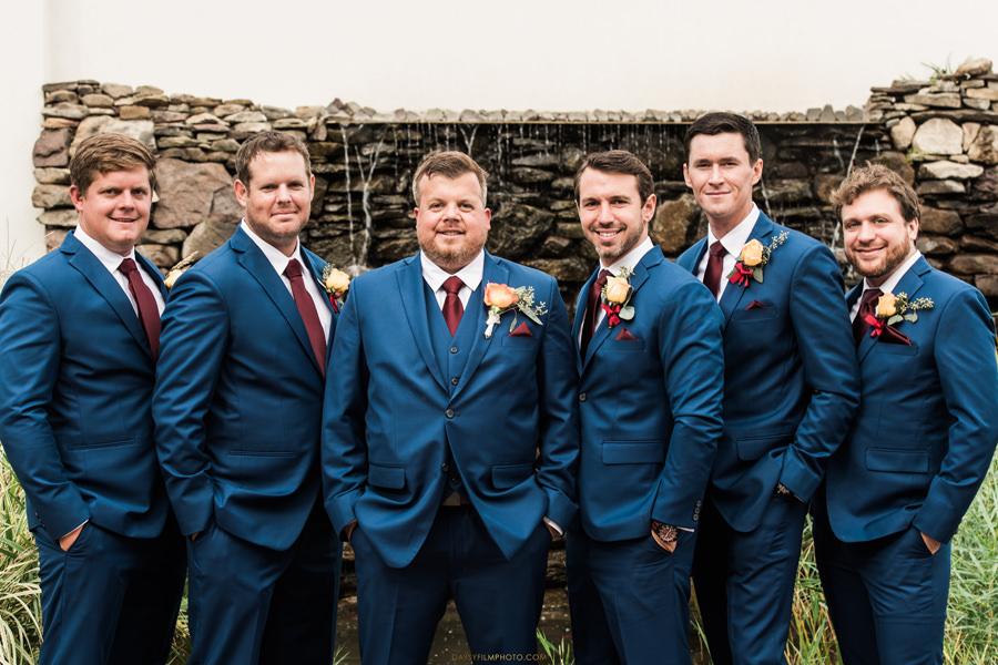 Chesapeake Beach Resort and Spa groom and groomsmen in blue