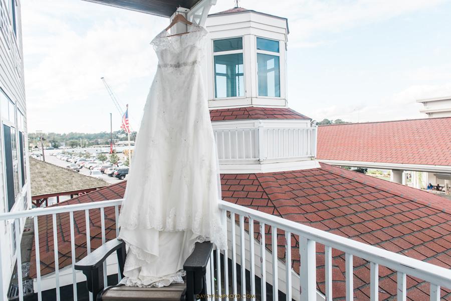 Chesapeake Beach Resort and Spa wedding dress on the windown