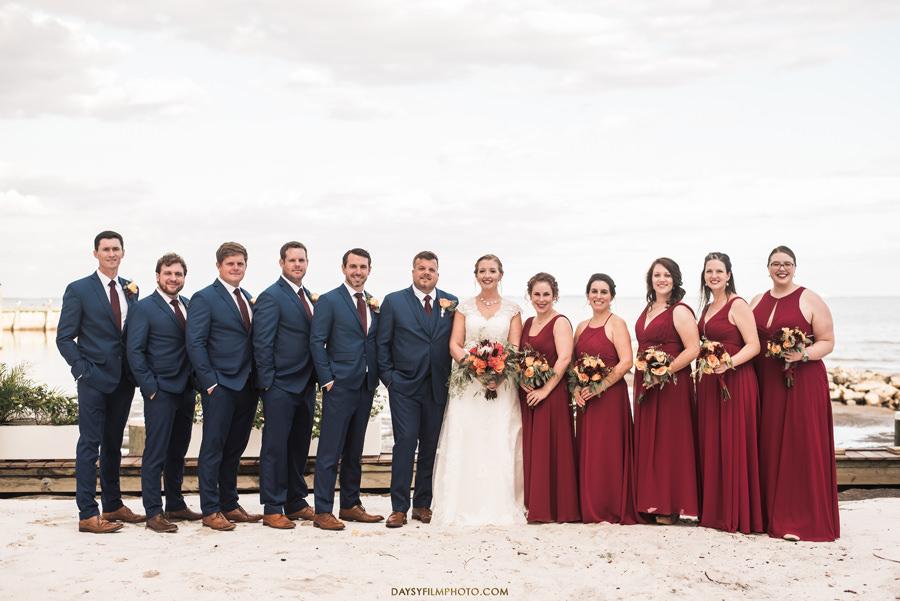 Chesapeake Beach Resort and Spa groom, bride groomsmen and bridesmaids