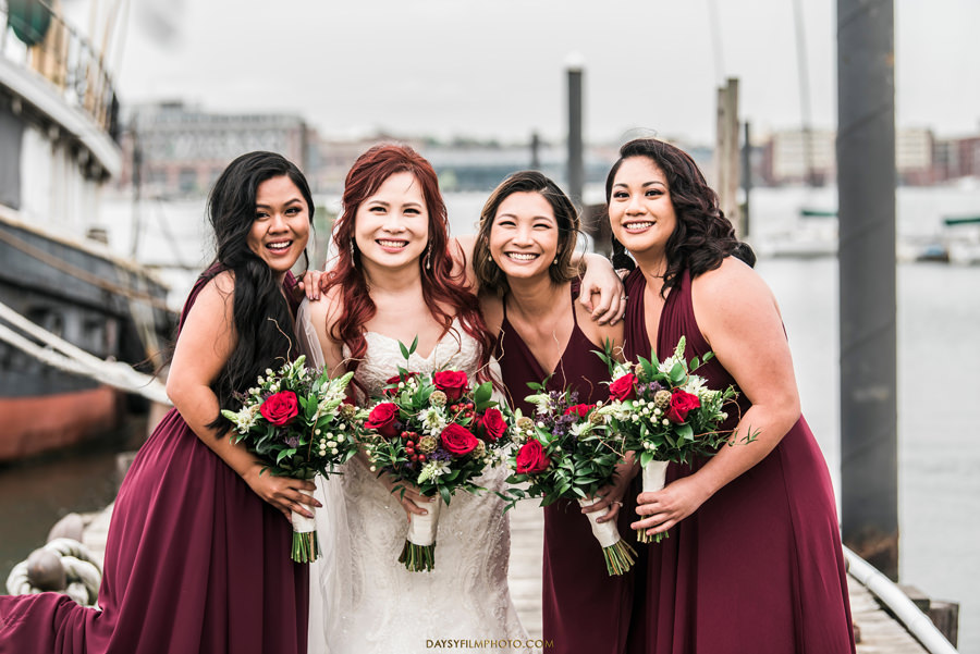 Baltimore Museum of Industry Wedding bridesmaids photo