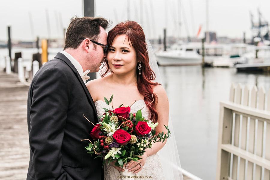 Baltimore Museum of Industry Wedding dock photos bride groom