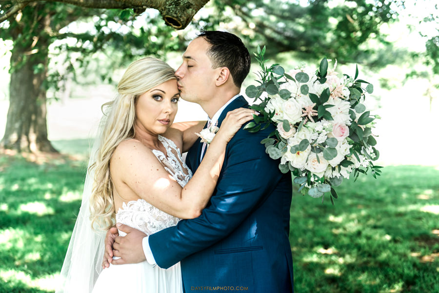 Manor Country Club Spring Wedding bride and groom portraits