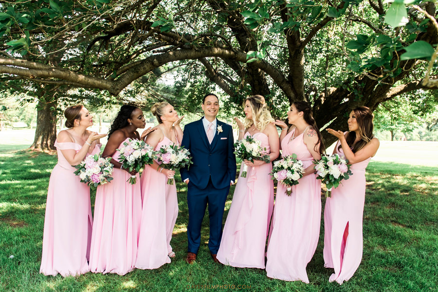 Manor Country Club rockville md groom with bridesmaids photo