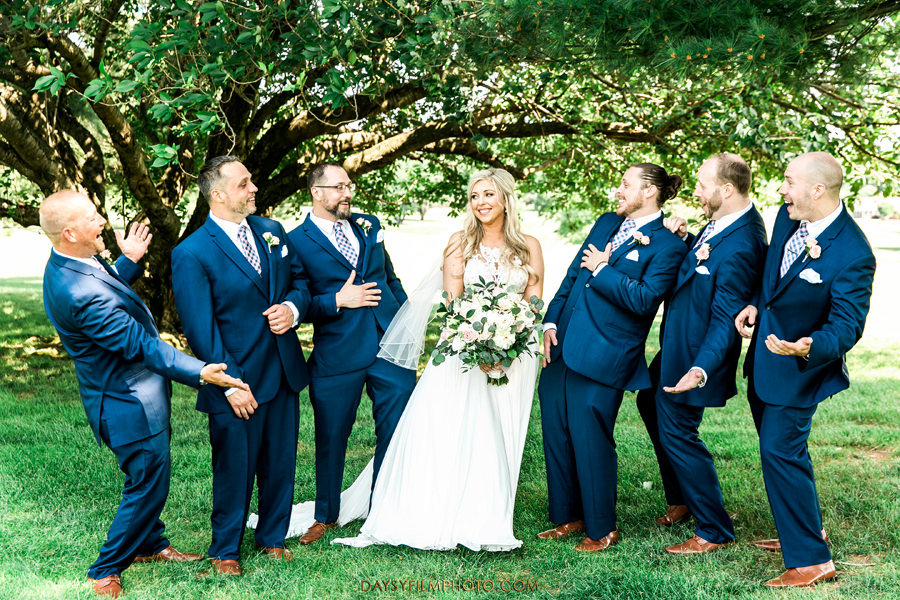 Manor Country Club rockville md bride with groomsman