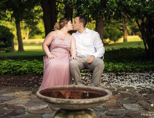 Cromwell Valley Park Engagement Photos. An Evening of Nature, Puppies and Love ~ Jennifer & Nameer