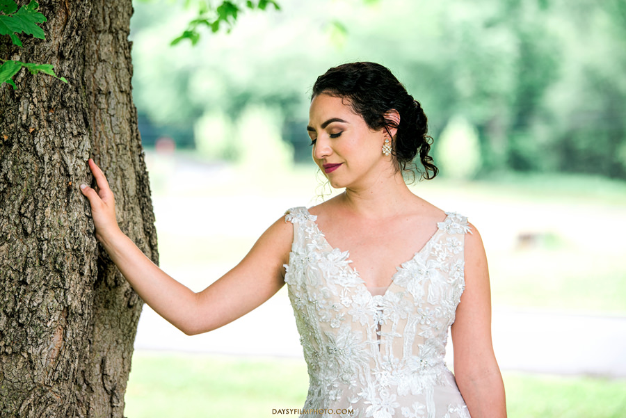 The woodland at algonkian sterling va wedding bride photos