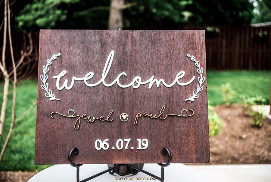 The Woodlands at Algonkian Wedding sign