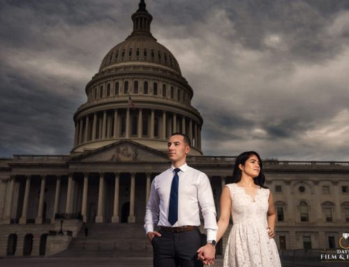 Washington DC Engagement Photos, a Jefferson Memorial and US Capitol Love ~ Lizet + Saul