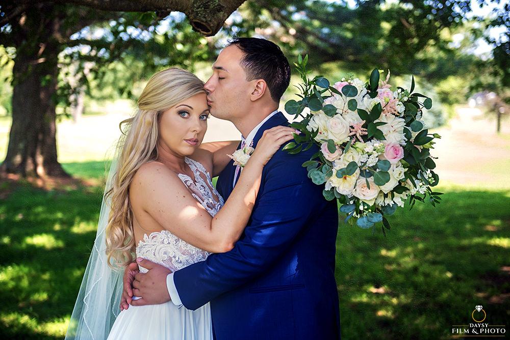 Manor Country Club Wedding Photos bride groom portrait