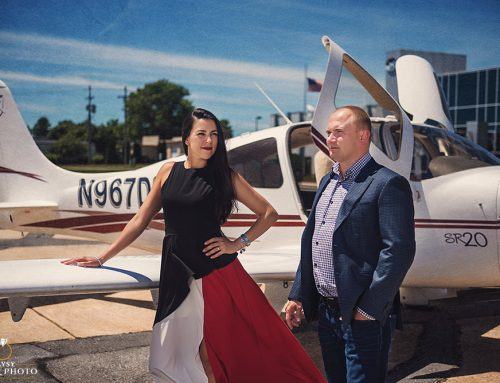 An Airport and a Golf Club, the Perfect Match for this Engaged Couple ~ Nice and Pavel