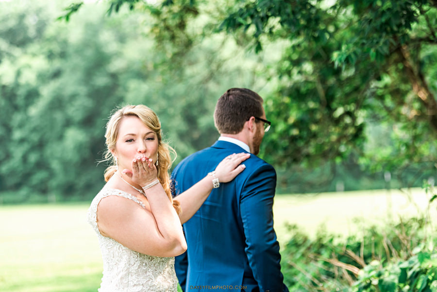 Vineyard of Mary's Meadow first look bride