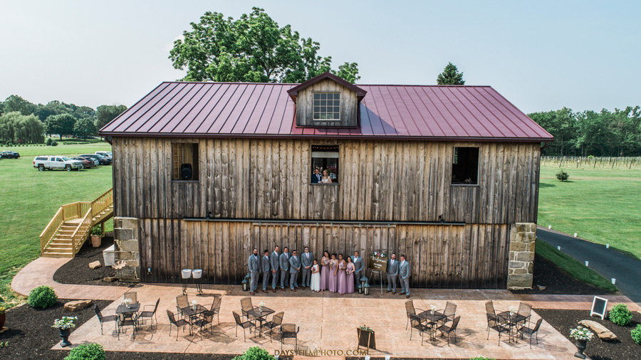 Vineyard of Mary's Meadow drone wedding