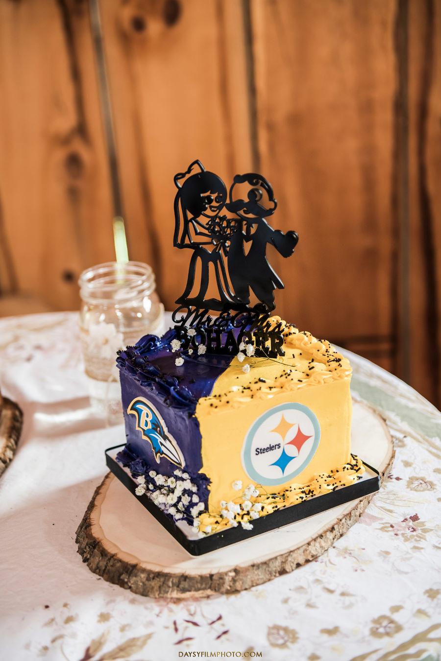 baltimore wedding steelers cake