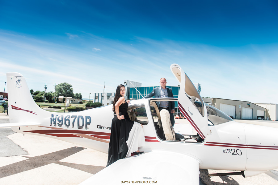 frederick municipal airport engagement couple