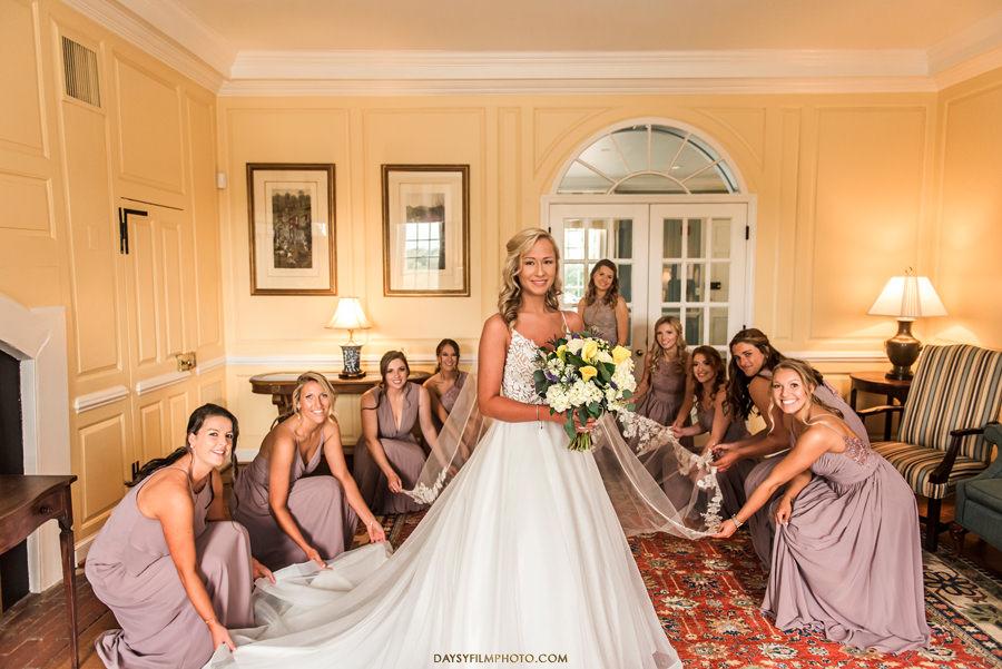 Belmont Historic Manor bridesmaids and bride indoor photos