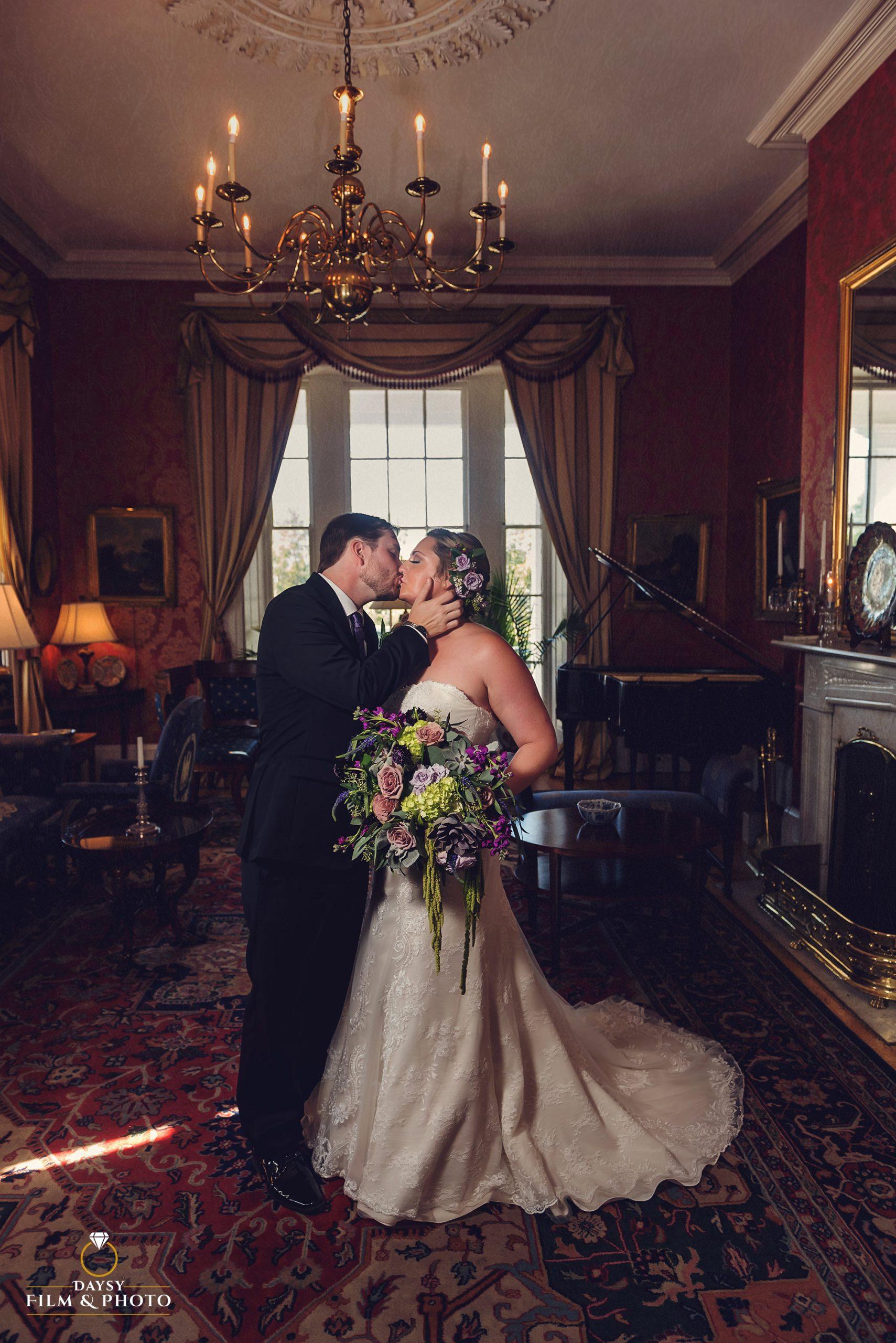 Antrim 1844 Inn wedding photos couple indoor