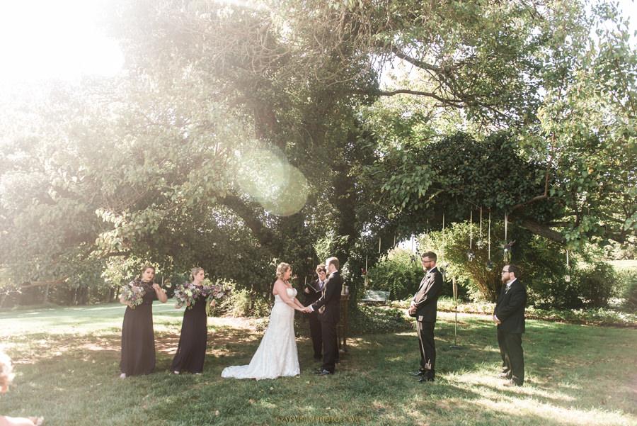 Antrim 1844 Inn Taneytown, MD oak tree wedding ceremony