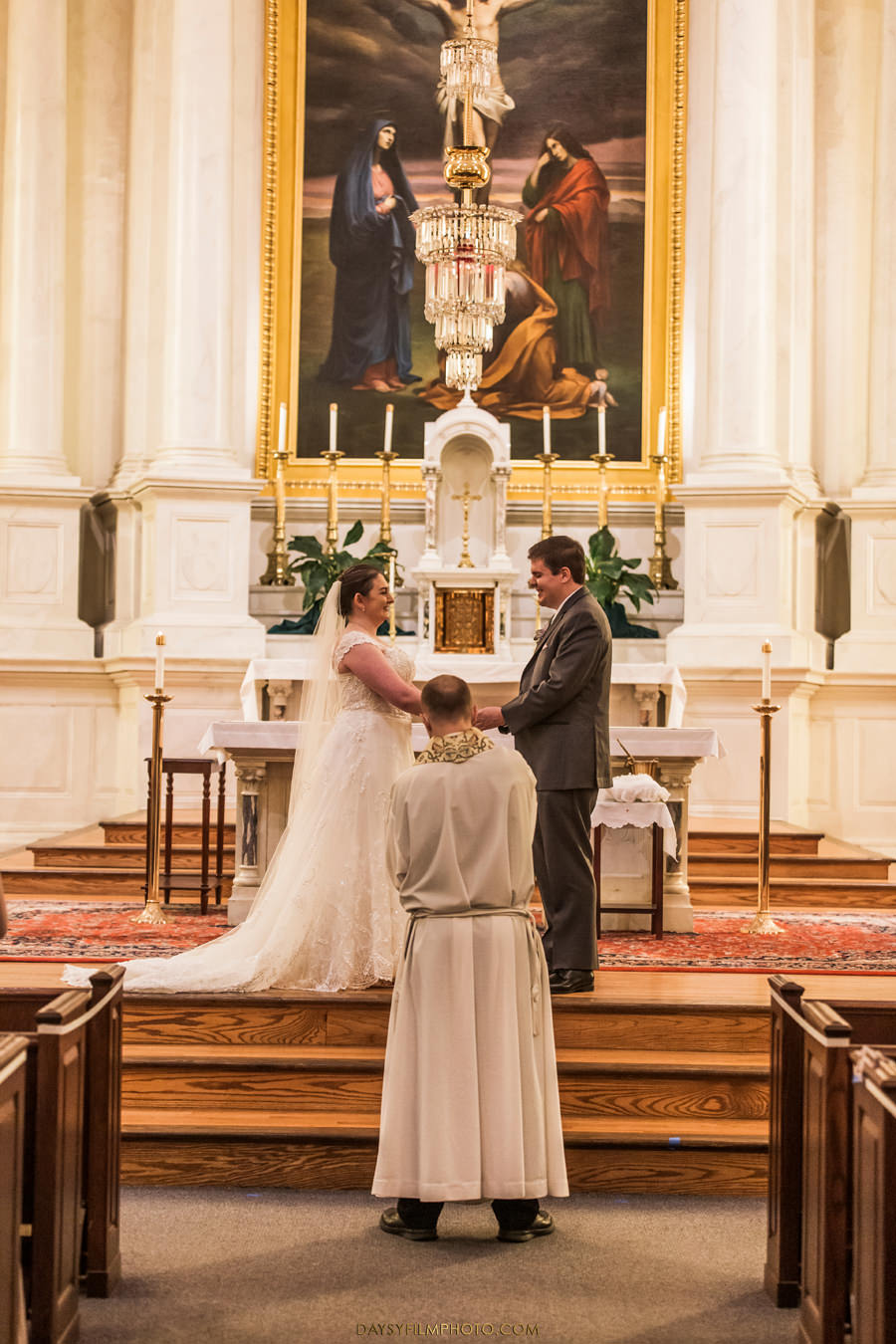St. John the Evangelist Catholic Church Wedding inside church